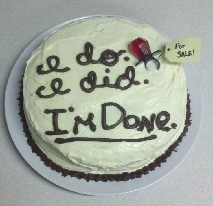 Divorce cake. Lol awesome for that friend who is married to the jerk we all hate... I'm making this for her when the big-D finally happens!