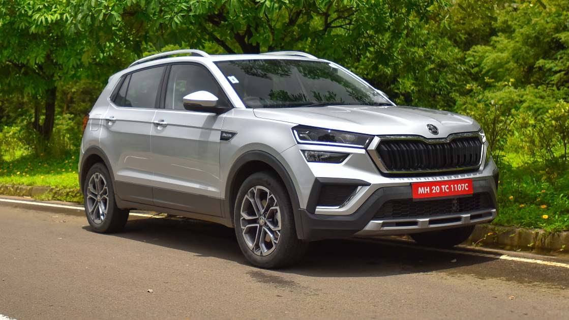 The fully-loaded Kushaq 1.5 automatic is among the most expensive midsize SUVs on sale today. Image: Overdrive/Anis Shaikh