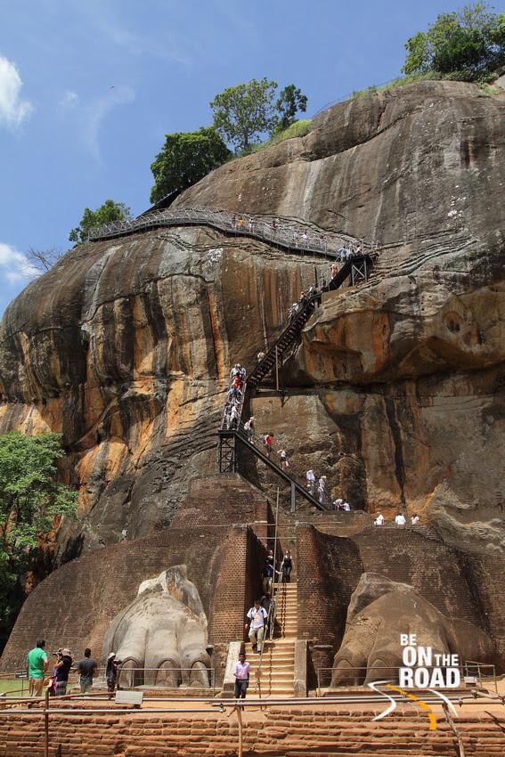 The lion's rock of Sigriya, Srilanka