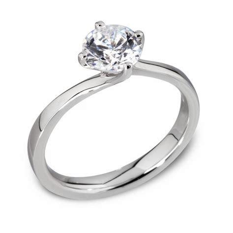 Platinum Twisted Setting Diamond Engagement Ring