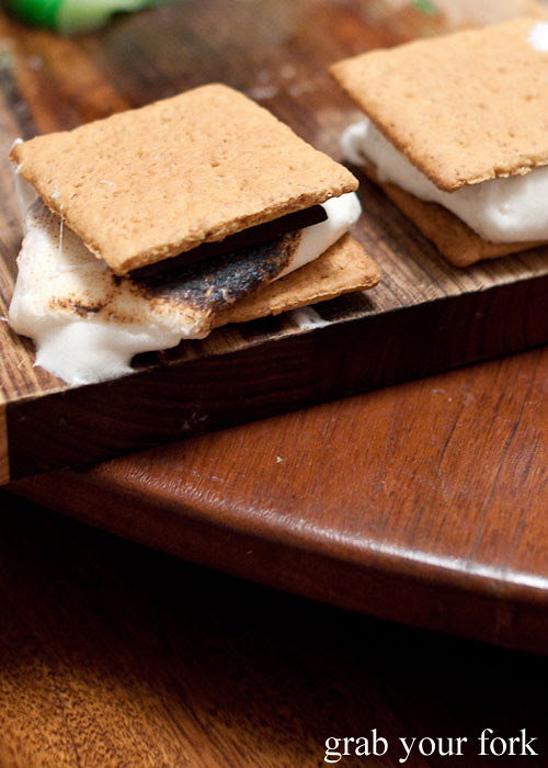 s'mores marshmallow chocolate graham cookie sandwich