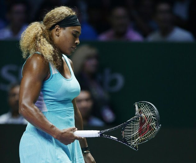 Image result for Serena Williams angry