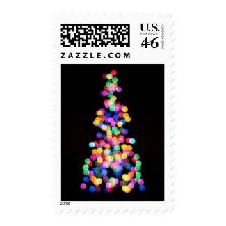 Blurred Christmas Lights Postage