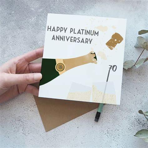70th platinum wedding anniversary card by yellowstone art