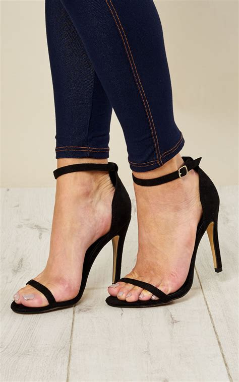 black barely  heels silkfred