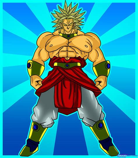 draw broly step  step dragon ball  characters