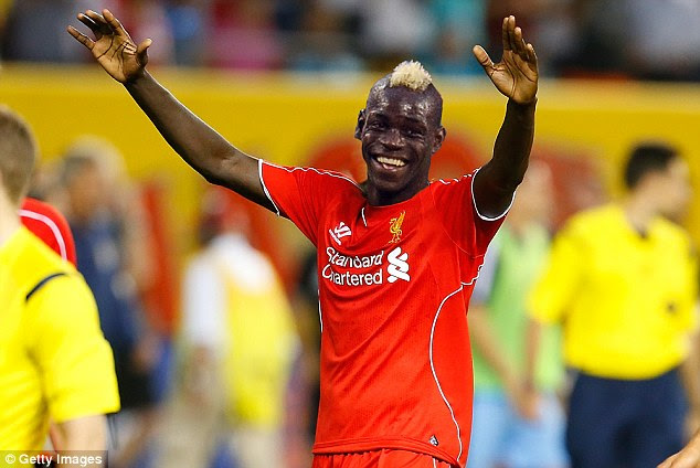 How it's going to be: Mario Balotelli mocked up in a Liverpool shirt in anticipation of his £16m move to Anfield