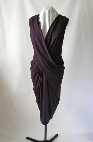 Purple drape dress front
