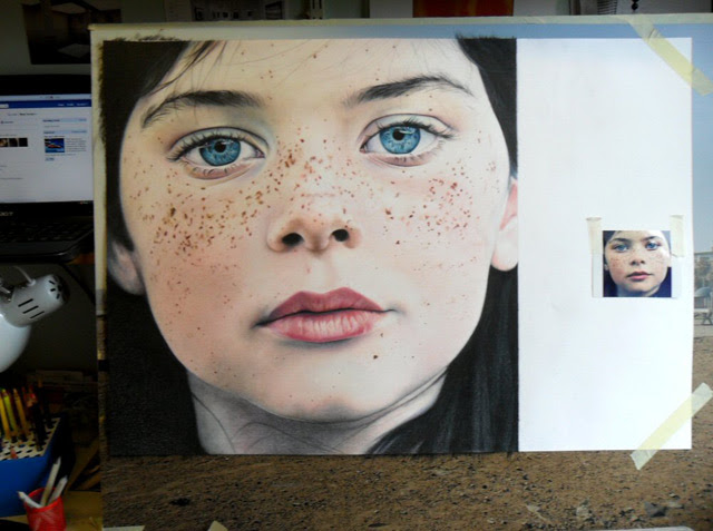 Amazing Color Pencil Portrait by Amy Robins portraits photo realism drawing