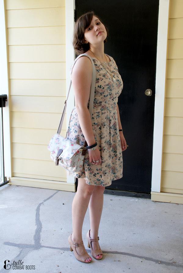 floral dress & purse