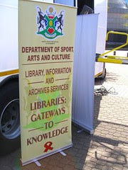 mobile library bus - banner