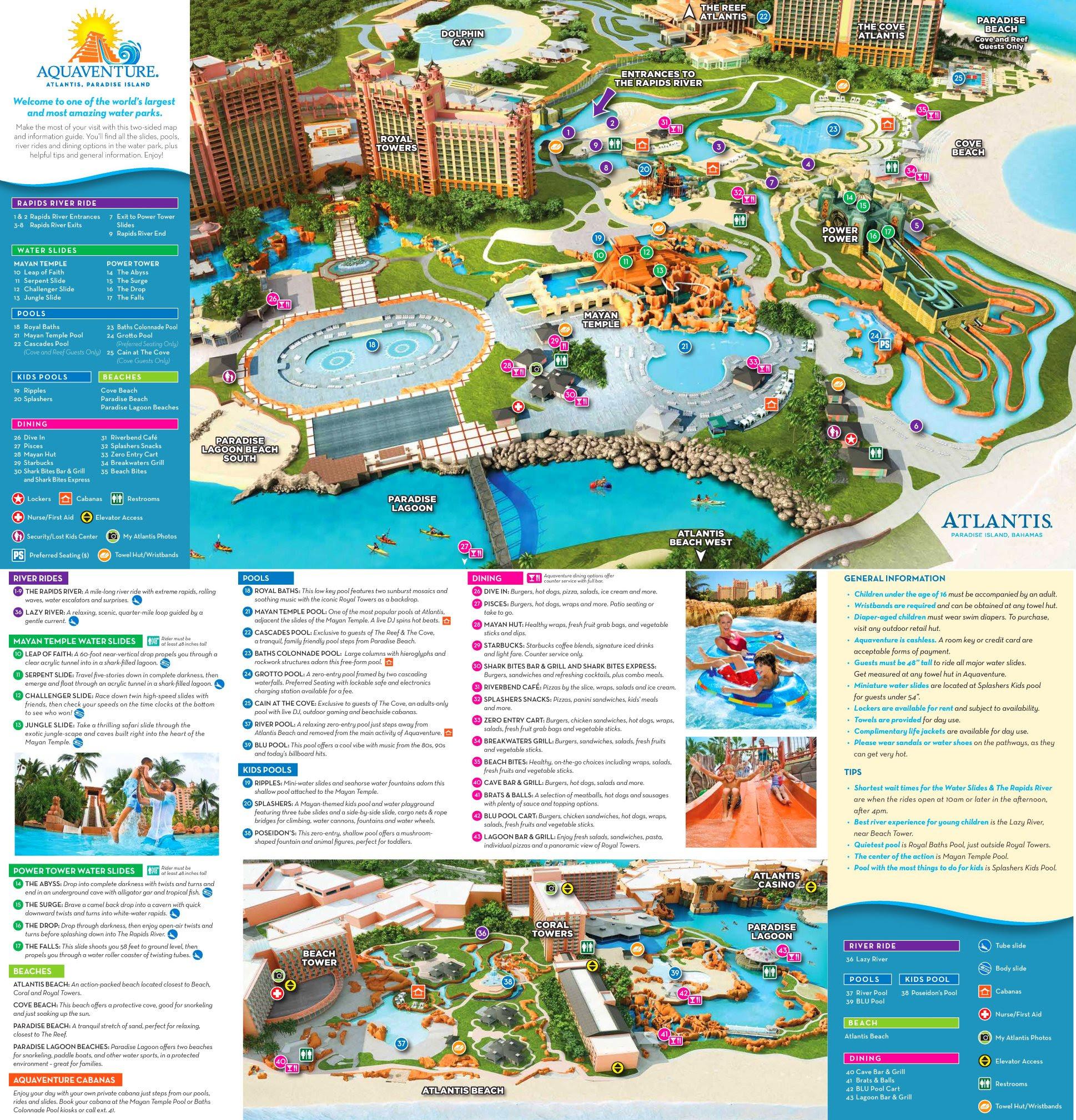 Atlantis Bahamas Map Of Resort