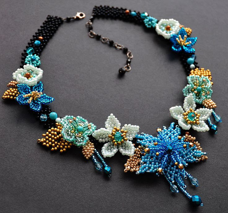 Beadwork by Lucie Avramova. Pagan Goddess Of Summer - Ziva Necklace