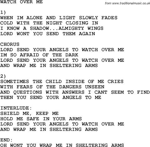 Angels Watching Over Me Lyrics Gospel