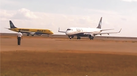 Confusão no aeroporto de Sinop vira piada na internet