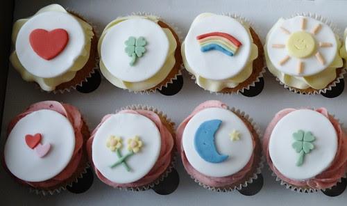 Care Bear Themed Birthday Cupcakes