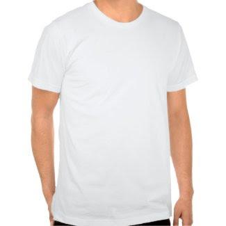 Rainbow Polka Dots on Black zazzle_shirt