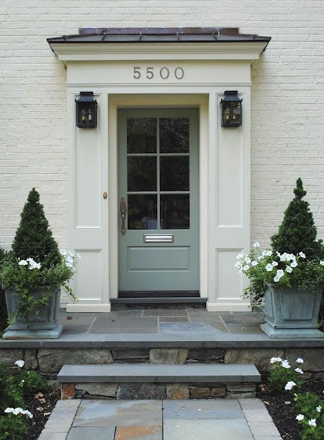 Farrow and Blue Gray front door