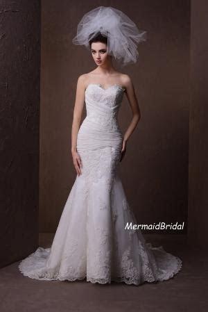Ivory Lace Mermaid/Trumpet Vintage Formal Wedding Dresses