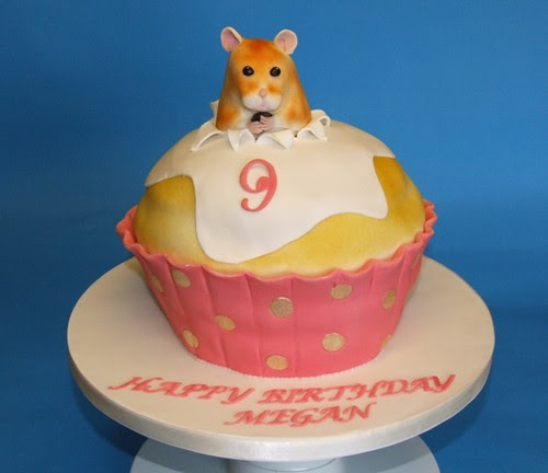 Hamster In The Cake Fondant Covered Sponge Cake For A
