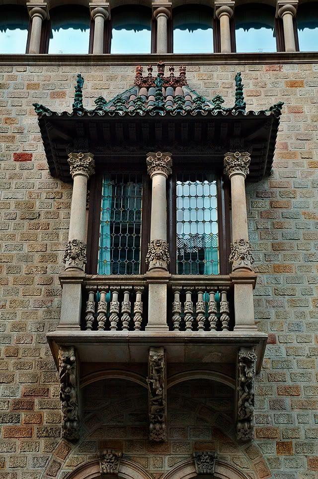 Art Nouveau Balcony at La Diputació de Barcelona [enlarge]