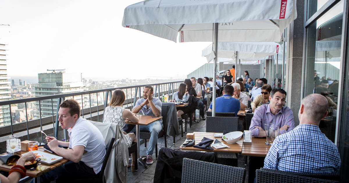 The highest rooftop patio in Toronto just reopened for the summer