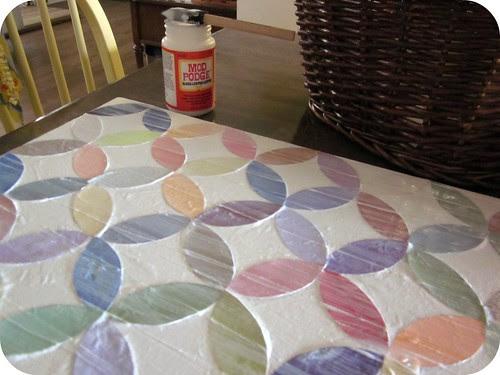 Circle Paint Chip Wall Art 011