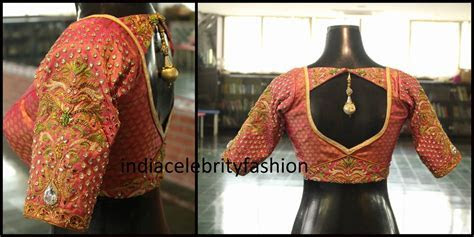 Stone work blouse for bridal Saree