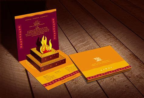 3D Popup Indian Traditional Wedding #InvitationCard by www