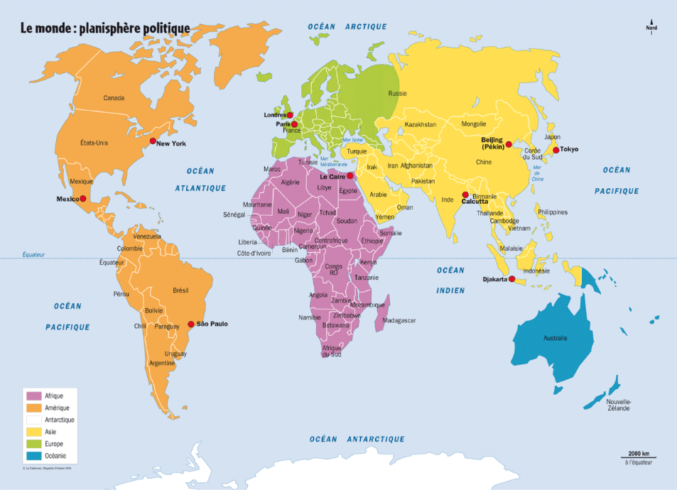 France On World Map