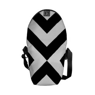 Black and White Chevrons Commuter Bag
