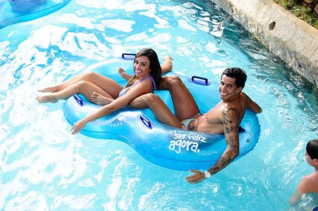 Nicole Bahls e Victor Ramos em Fortaleza (Foto: Divulgação / Assessoria de imprensa Nicole Bahls)