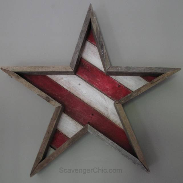 Pallet Wood Stars and Stripes for the 4th of July diy, Pallet Wood