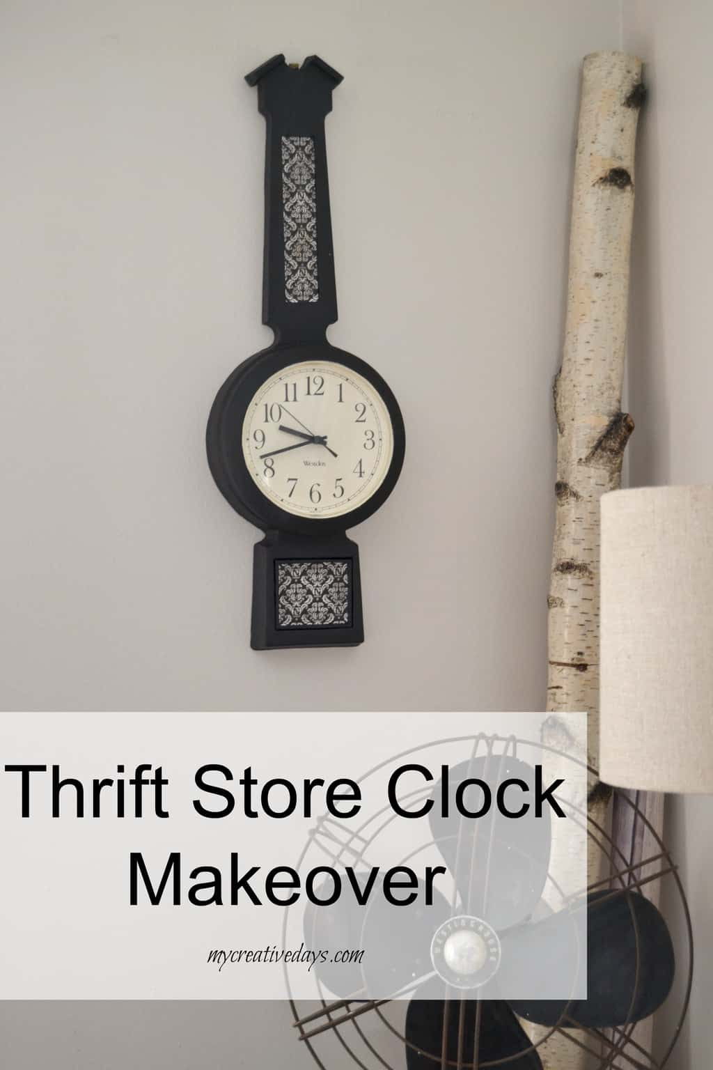 Thrift Store Clock Makeover mycreativedays.com