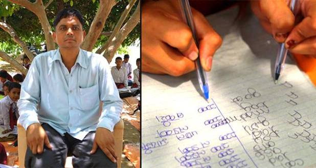 Students from ambidextrous school write using both hands, finish exams in half time
