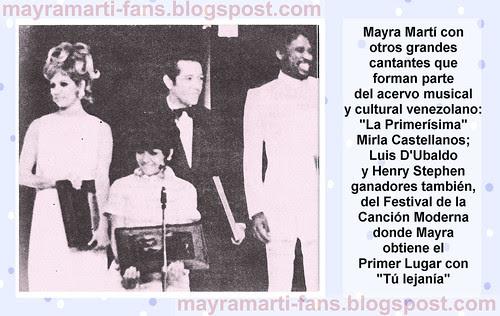 Mayra y cantantes 1968 web