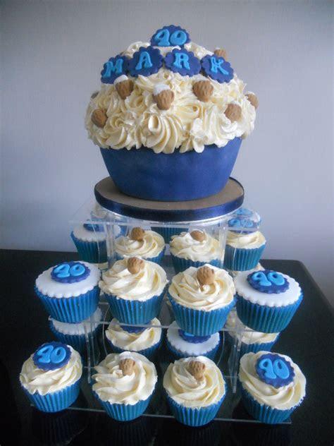 Giant cupcakes   Themed for men   Tracy's T Cakes