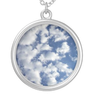 Puffy Clouds On Blue Sky necklace