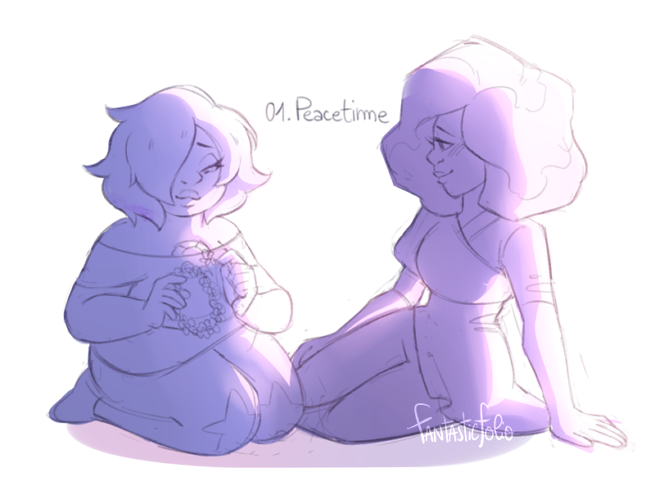 """Day 1: Peacetime "" @gamethyst-bomb theres like no canon evidence they actually knew each other at the start of the rebellion so let me dream ok"