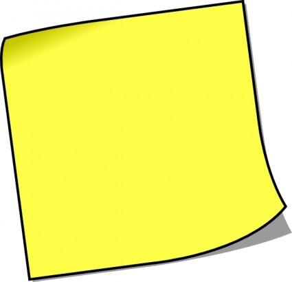 空白の付箋メモ クリップ アート ベクトル クリップ アート 無料ベクトル