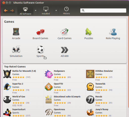 Ubuntu 12.04 Precise Pangolin Games Apps