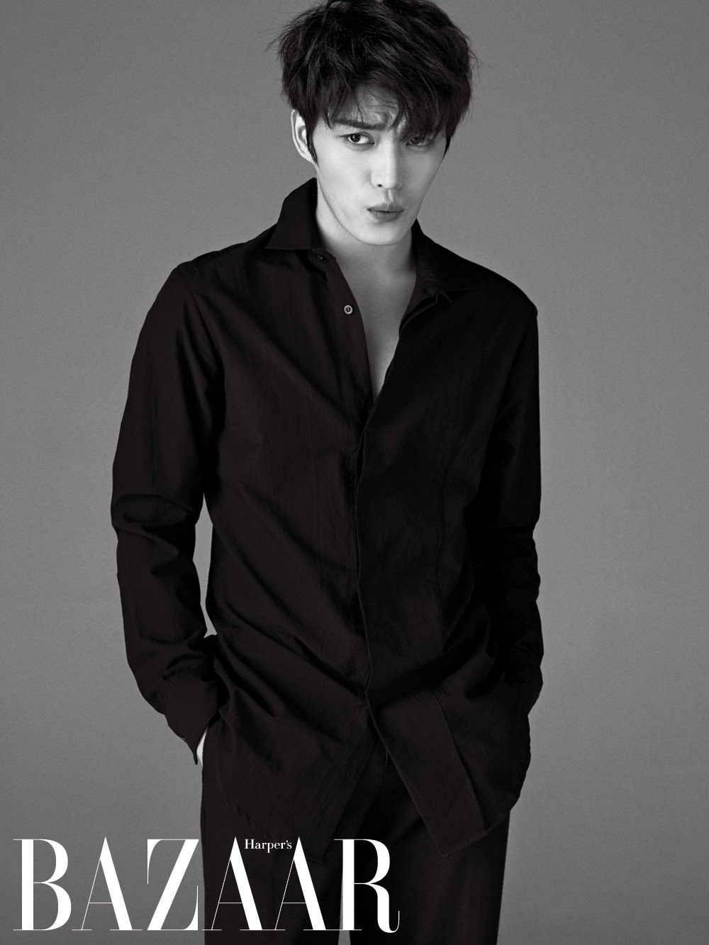 JYJ Jae Joong - Harper's Bazaar Magazine February Issue '15