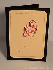 4 layer Butterfly Card