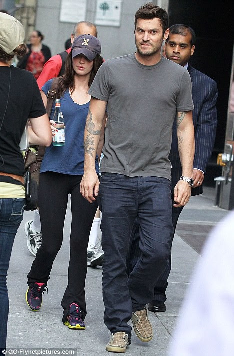 Stay away, boys! Brian Austin Green chaperones Megan Fox to new  film set after revelations of Transformers fling   1