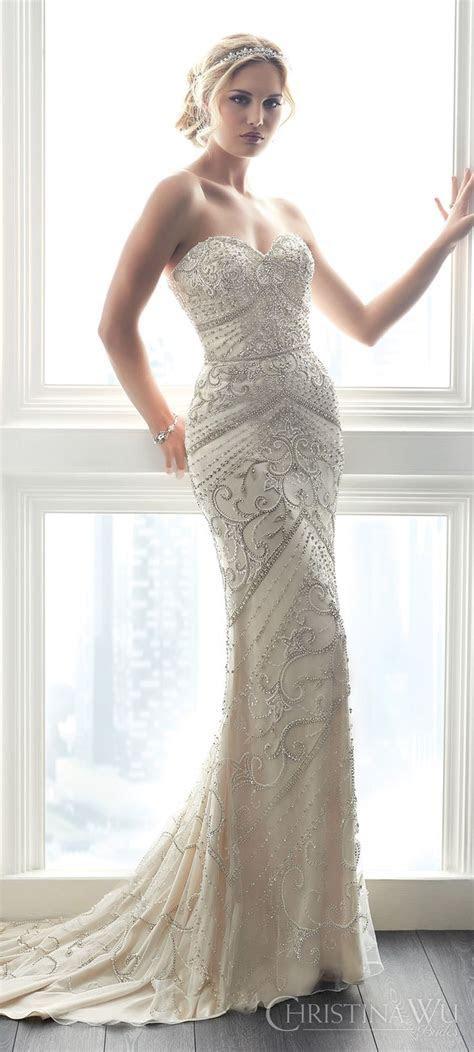 Best 25  Beaded wedding dresses ideas on Pinterest