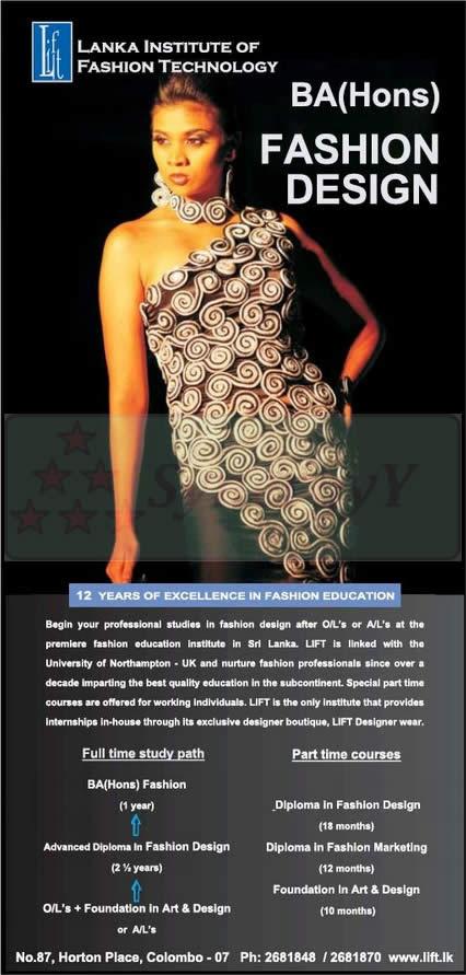 Sri Lankan Fashion Design School School Style