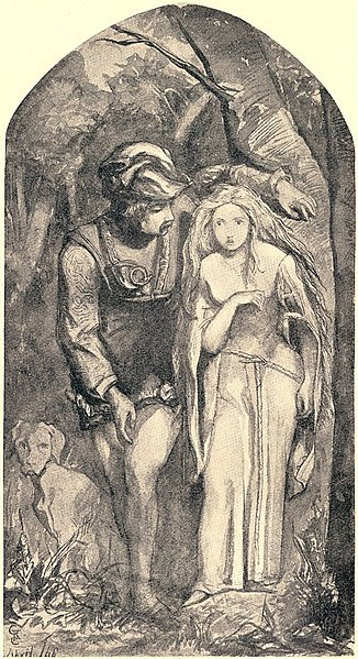 File:Dante Gabriel Rossetti - La Belle Dame sans Merci, 1848.jpg