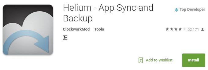 Helium Backup