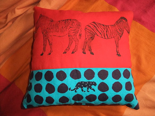 Stripes and spots pillow