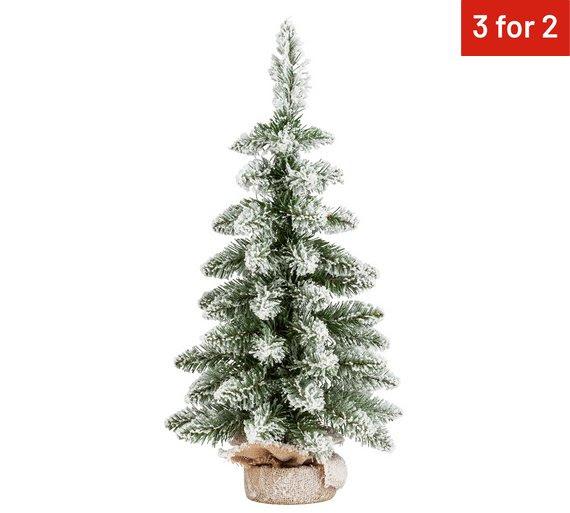 Argos 2ft Flocked Snowy Christmas Tree